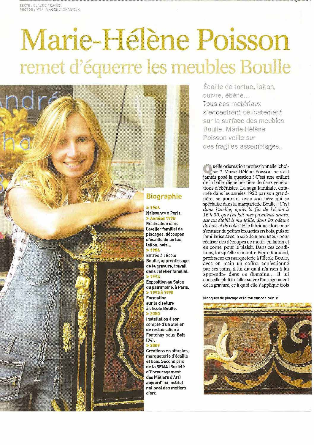 Article Antiquités Brocante Octobre 2010
